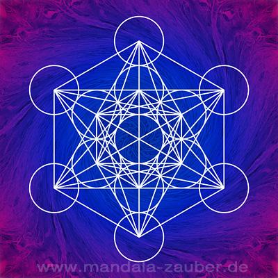 "Mandala ""Metatronwürfel"""