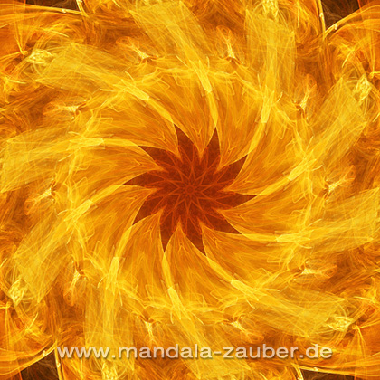 "Mandala ""Feuer-Tanz"""